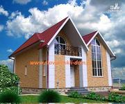 Проект жилой каркасный дом с двухсветной гостиной