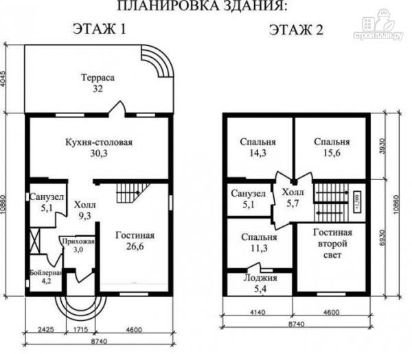Фото 2: проект жилой каркасный дом с двухсветной гостиной