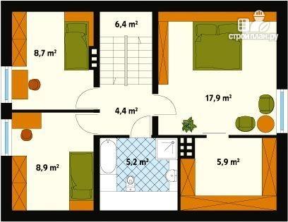 Фото 3: проект жилой каркасный дом по канадской технологии, с гаражом