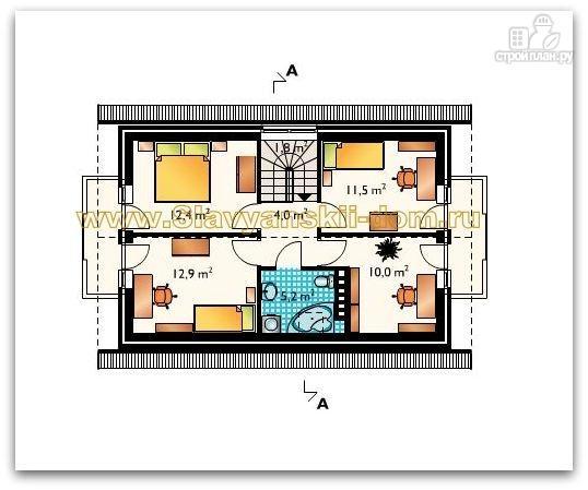 Фото 3: проект жилой каркасный дом по канадской технологии с балконом  и крыльцом