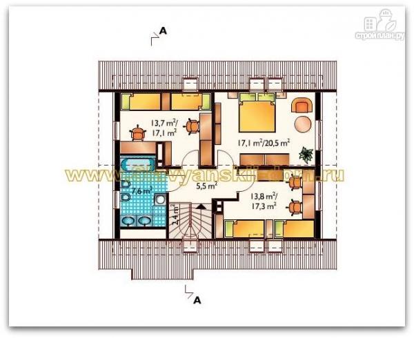 Фото 3: проект жилой каркасный дом с мансардой