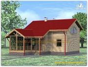 Проект жилой каркасный дом по канадской технологии с сауной