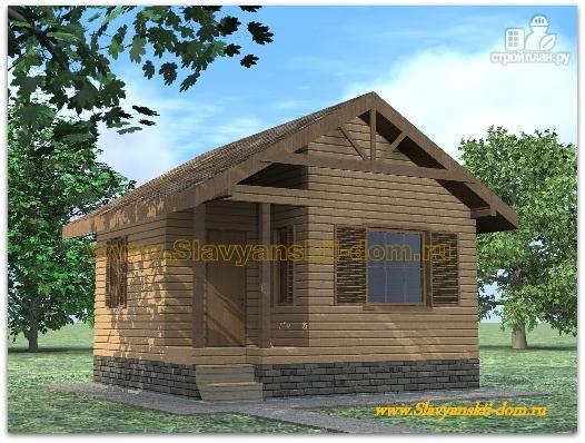 Фото: проект деревянная баня 6х6 из бруса