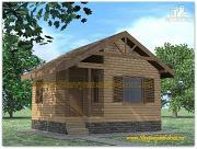 Проект деревянная баня 6х6 из бруса