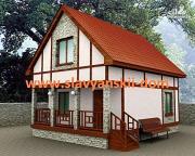 Проект жилой дом из сэндвич-панелей, с террасой