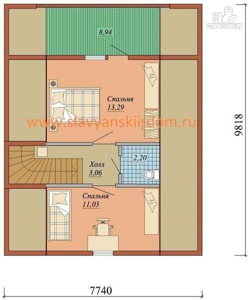 Фото 3: проект жилой дом из сэндвич-панелей, с террасой и балконом