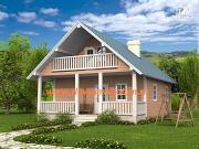 Фото: жилой дом из сэндвич-панелей, с террасой и балконом