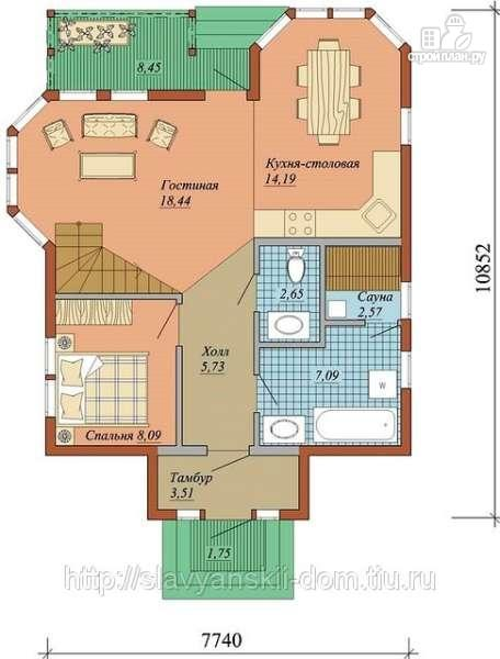 Фото 2: проект жилой дом из сэндвич-панелей, с двумя эркерами и балконом