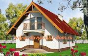 Фото: жилой дом из сэндвич-панелей, с балконом мансардного типа