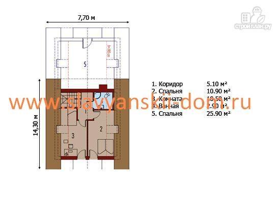 Фото 3: проект жилой дом из сэндвич-панелей, с балконом мансардного типа