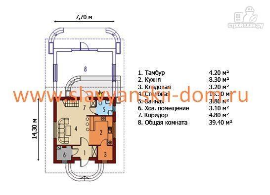 Фото 2: проект жилой дом из сэндвич-панелей, с балконом мансардного типа