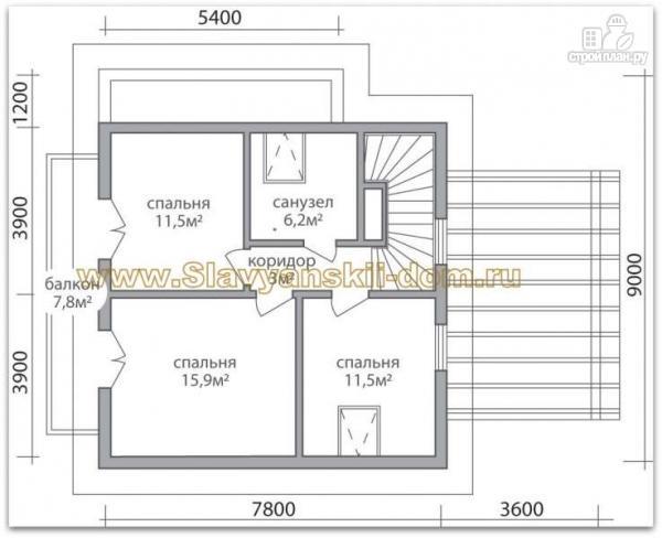 Фото 3: проект жилой дом из сэндвич-панелей, с балконом и крыльцом