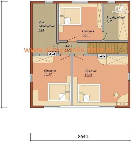 Фото 3: проект жилой дом из сэндвич-панелей, с двумя эркерами и входами, терраса