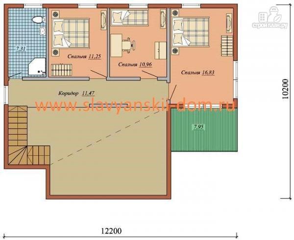 Фото 3: проект жилой дом из сэндвич-панелей, с гаражом, балконом и террасой
