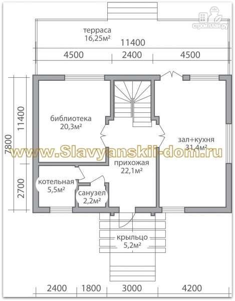 Фото 2: проект жилой дом из сэндвич-панелей в полтора этажа