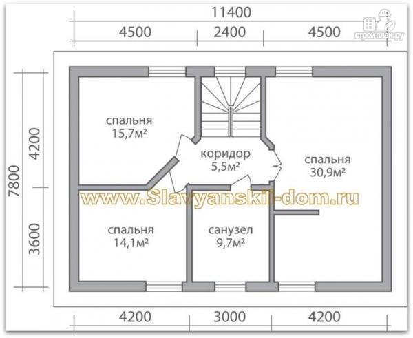 Фото 3: проект жилой дом из сэндвич-панелей в полтора этажа