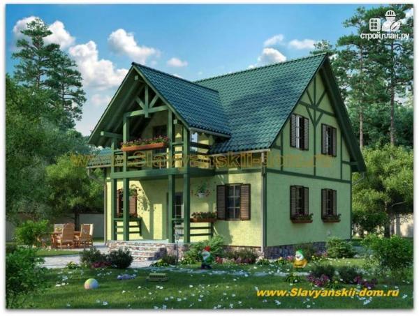 Фото: проект жилой дом из сэндвич-панелей