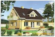 Проект жилой дом из сэндвич-панелей, с мансардой и балконом