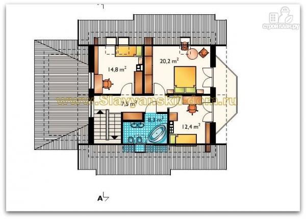 Фото 3: проект жилой дом из сэндвич-панелей, с эркером, балконом и гаражом