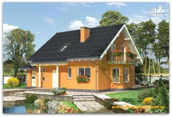 Фото: проект жилой дом из сэндвич-панелей, с эркером, балконом и гаражом