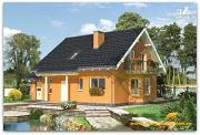 Фото: жилой дом из сэндвич-панелей, с эркером, балконом и гаражом