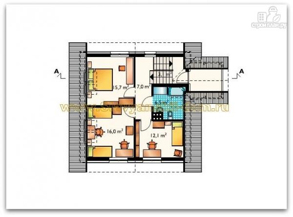 Фото 3: проект жилой дом из сэндвич-панелей, с балконом и тамбуром
