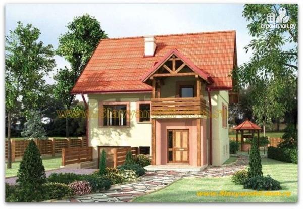 Фото: проект жилой дом из сэндвич-панелей, с балконом и тамбуром