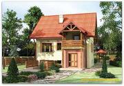 Проект жилой дом из сэндвич-панелей, с балконом и тамбуром