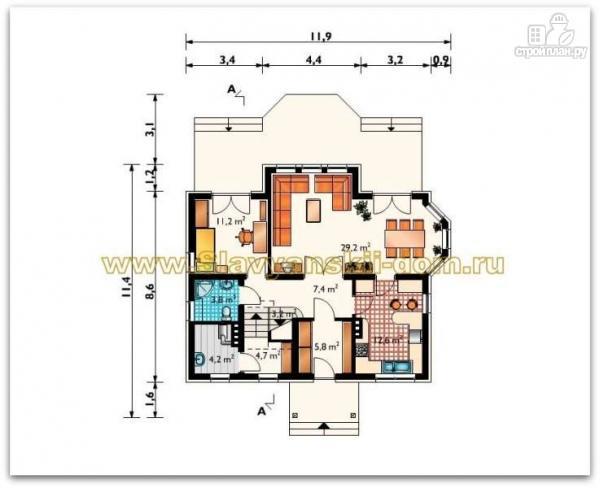 Фото 2: проект жилой дом из сэндвич-панелей, с двумя балконами и эркером