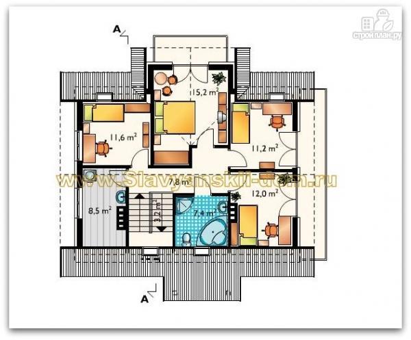 Фото 3: проект жилой дом из сэндвич-панелей, с двумя балконами и эркером