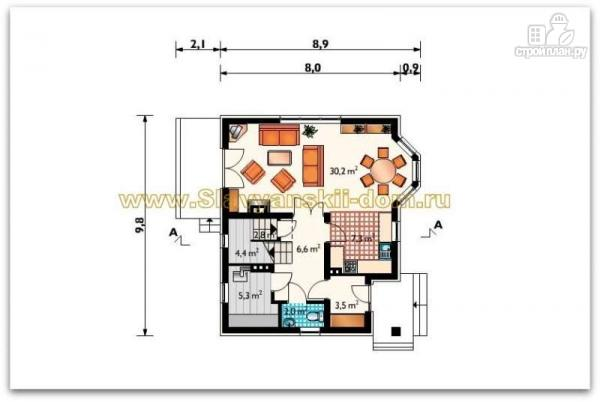 Фото 2: проект жилой дом из сэндвич-панелей, с балкономи и эркером