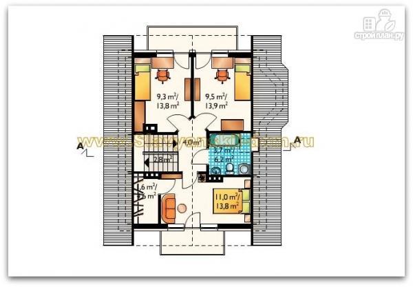 Фото 3: проект жилой дом из сэндвич-панелей, с балкономи и эркером