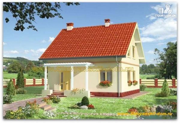 Фото: проект жилой дом из сэндвич-панелей с мансардой