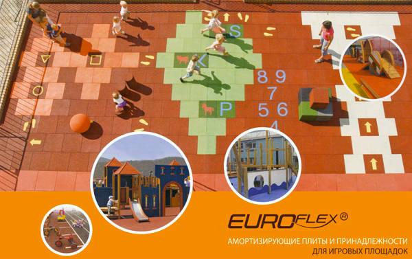 Фото Детские площадки из резиновой крошки Kraiburg Euroflex