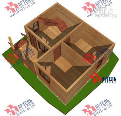 Фото 8: проект дом из бруса 6х7 с крыльцом