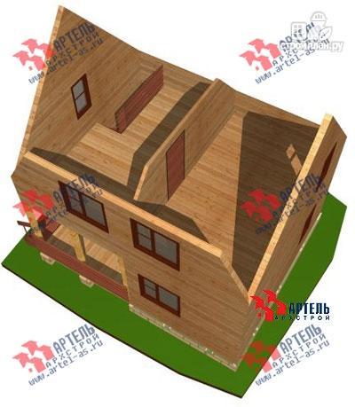 Фото 9: проект дом из бруса 6х7 с крыльцом