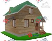Фото: двухэтажный дом из бруса 6х7
