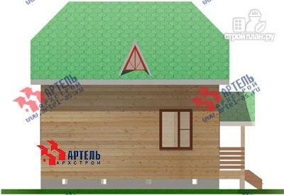 Фото 6: проект двухэтажный дом из бруса 6х7
