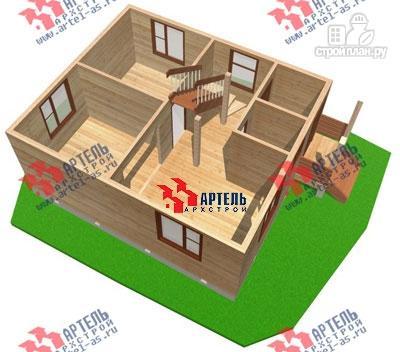 Фото 2: проект двухэтажный дом из бруса 6х7