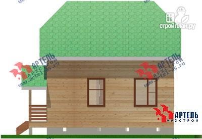 Фото 5: проект двухэтажный дом из бруса 6х7
