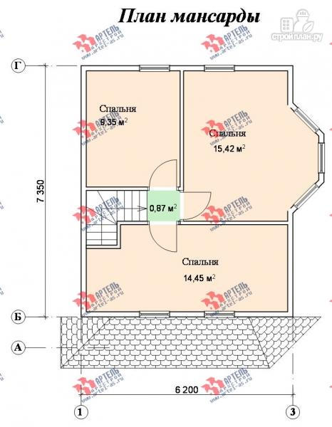 Дом из бруса дом баня 6х6 м с двумя