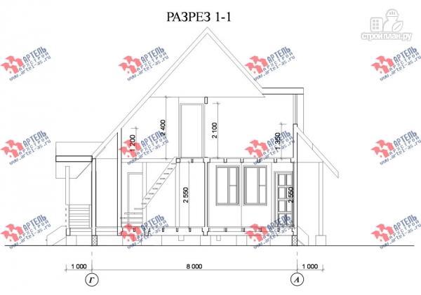 Фото 10: проект дом 7х8 из бруса
