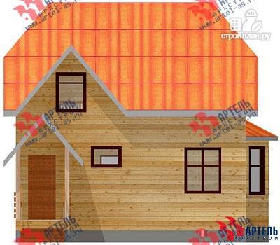 Фото 2: проект дом из бруса с эркером