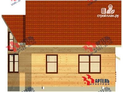 Фото 3: проект дом 7х9 из бруса с двухсветной гостиной