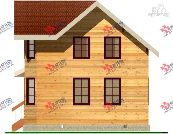 Фото 2: проект дом из бруса с крыльцом
