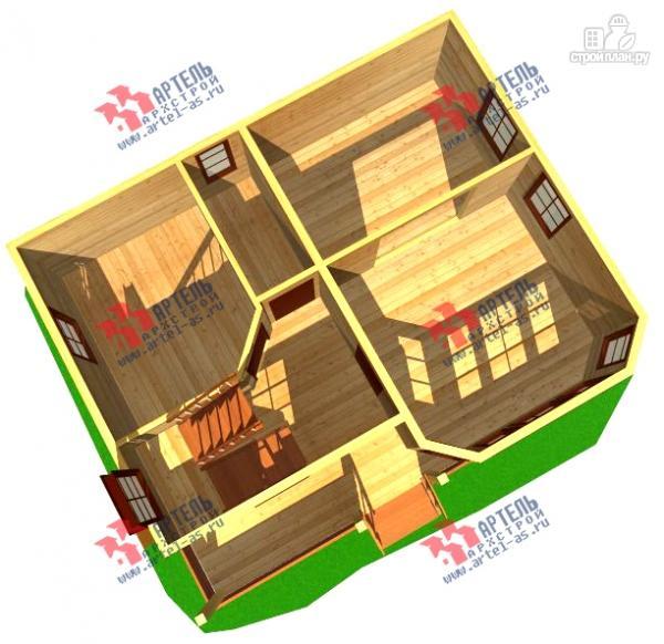 Фото 6: проект дом из бруса с крыльцом