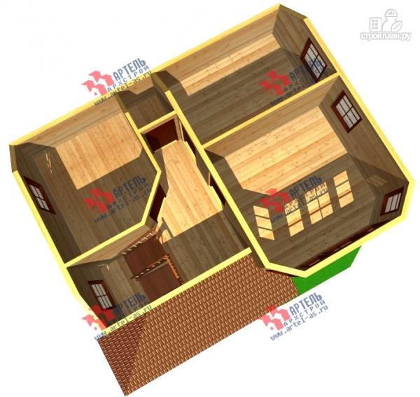 Фото 7: проект дом из бруса с крыльцом