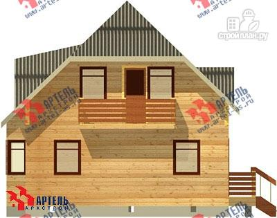 Фото 2: проект дом из бруса с балконом