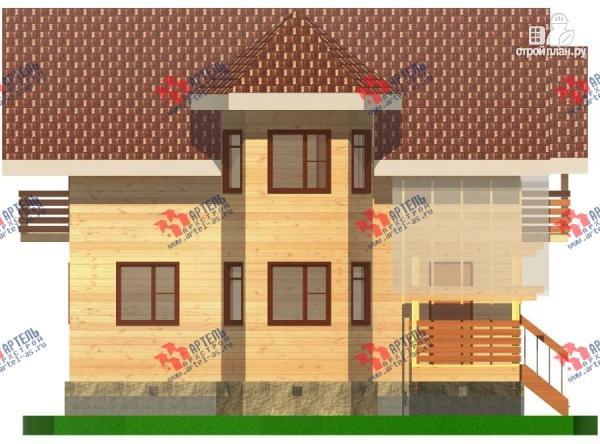 Фото 3: проект дом из бруса с пятью спальнями