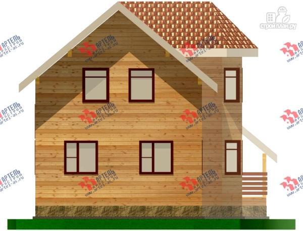 Фото 4: проект дом из бруса с пятью спальнями